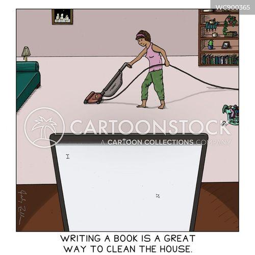 typing cartoon