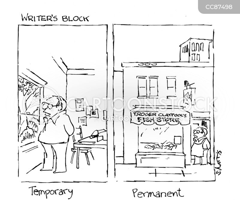 Writer Block cartoon