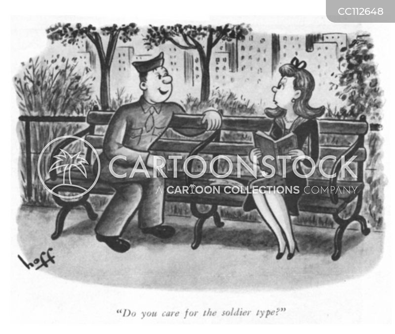 1940s Dating cartoon