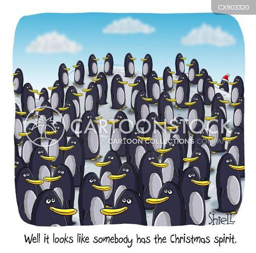 penguin colony cartoon
