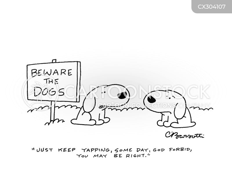 barking cartoon