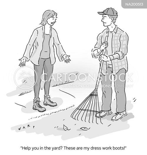 yard cartoon