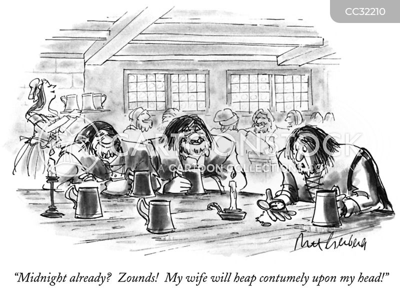bartending cartoon