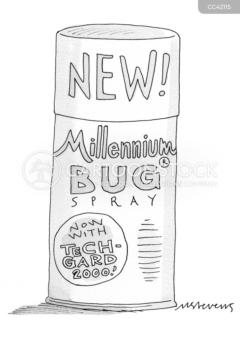 the y2k bug cartoon