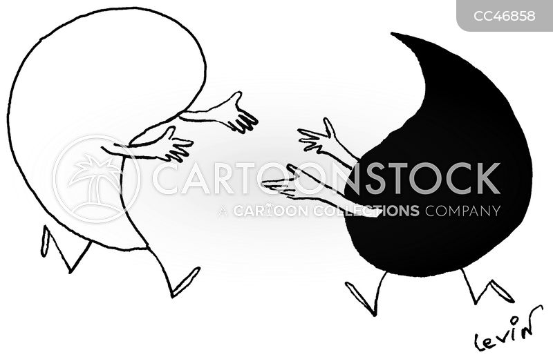 ying and yang cartoon