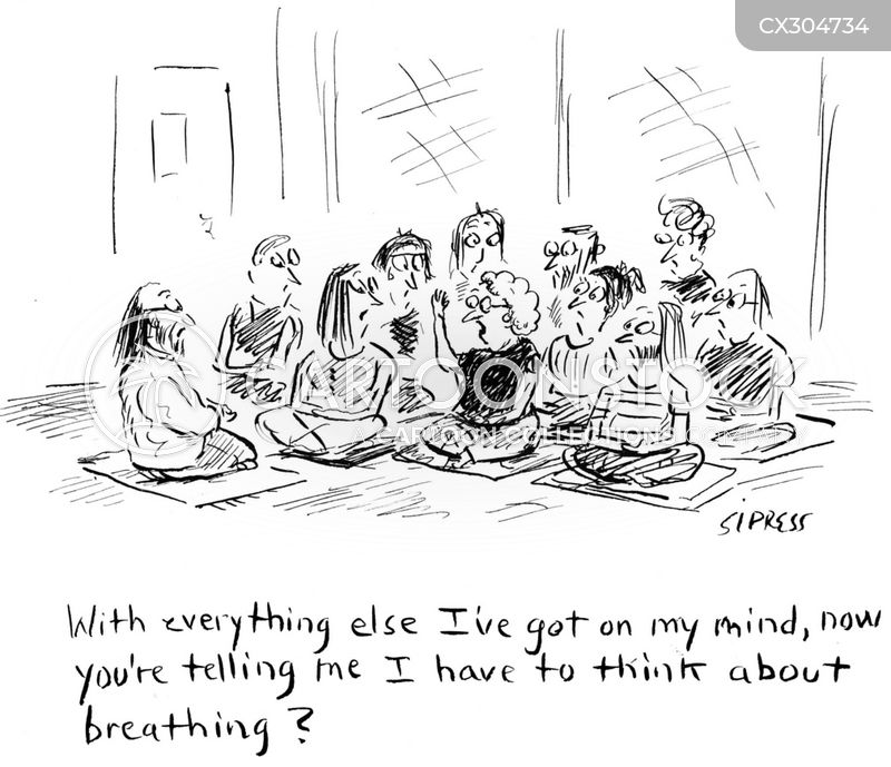 yoga class cartoon