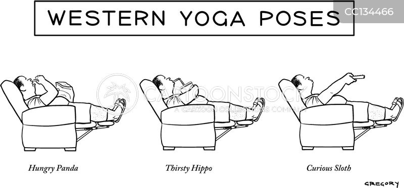yoga poses cartoon
