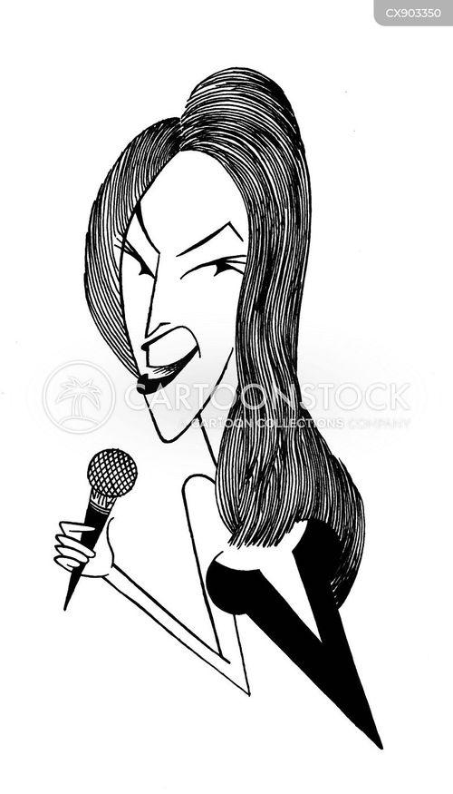 female singers cartoon