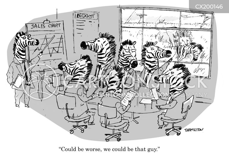 sales reports cartoon