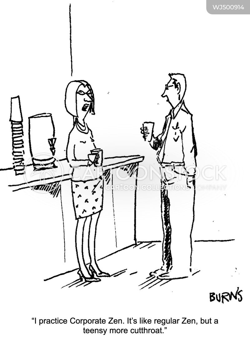 water cooler conversation cartoon