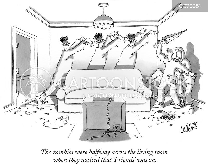 zombie attack cartoon